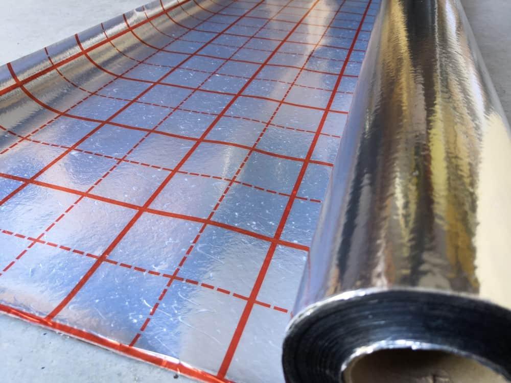 reflexní folie pod podlahové topení vytápění odrazívá, metalická folie, folie tepelná, výroba